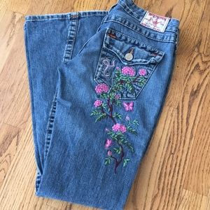 Embroidered True Religion Jeans